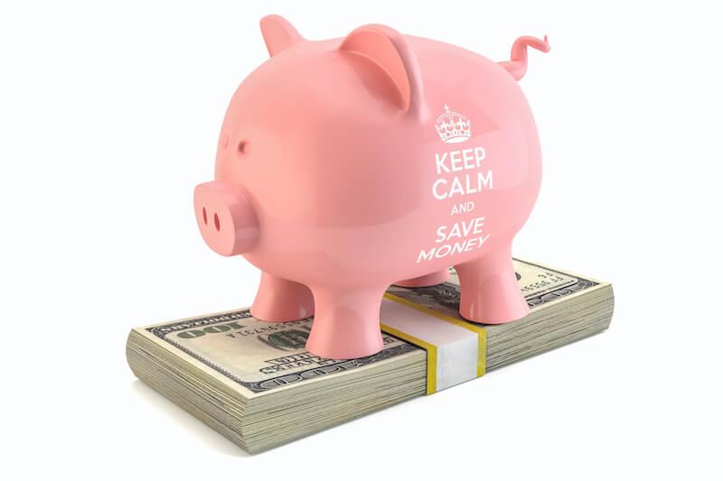 貯金箱とドル