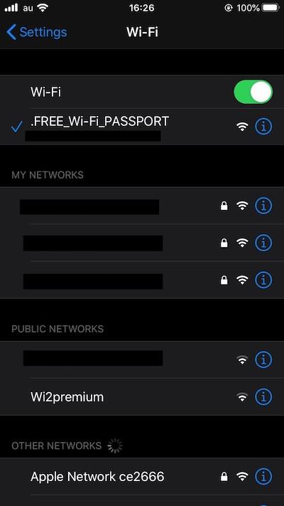 iPhoneのWi-Fi接続方法